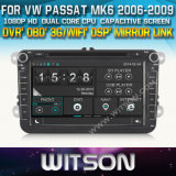 Witson Car DVD Player for Vw Passat 2006-2009 with Chipset 1080P 8g ROM WiFi 3G Internet DVR Support
