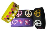 Wholesale Debossed One Inch Wide Silicone Rubber Bracelet