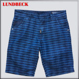 Leisure Cotton Shorts for Men Stripe Style