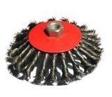 Knotted Twist Wire Plate Wire Cup Brush with Thread (JL-PTWBT)