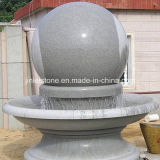 Customize G603 Grey Granite Ball Fountain for Outdoor Plaza