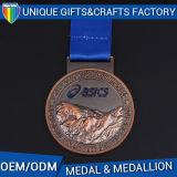 Custom Cheap Bronze Sport Medals and Trophies for Souvenir