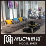 2013 New Modern Brown Fabric Sofa (S045B)