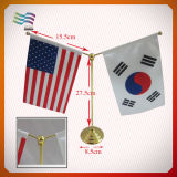 Customized Table Flag for Decoration with Stainless Steel Pole (HYTF-AF011)