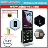 "42"" LCD Screen Digital Signage Player Kiosk Free Mobile Cell Phone Charging Station"