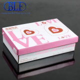 Small Love Heart Printing Paper Gift Packing Box with Lid (BLF-010)