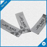 White Satin Print Label for Garment