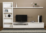 Matt White / Black Lacquer Finish Contemporary TV Unit BETL-06