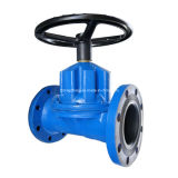 Rubber Lined Flanged Ends Straight Through Diaphragm Valve