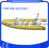 Fiberglass Hull Sxv750c FRP Rib Boat (CE)