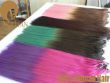 100% Remy Virgin Human Hair Extension in T-Color