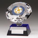 80mm Diamond Spirit Crystal Football Trophy — Free Engraving