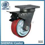 "5"" Iron Core PU Swivel Locking Caster Wheel"