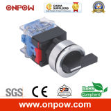 Onpow 30mm B Type Rotary Switch (LAS0-K30-11XB/21/N) CCC, CE, VDE