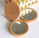 Round Pretty Palo Santo Folding Wood Makeup Mirror