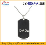 Reflective Dad Metal Name Dog Tag with Chain