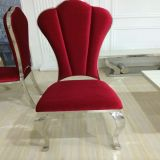 Home Furniture Stainless Steel Fabric Elegant Dining Chair