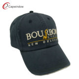 Black Stone Washed Baseball Cap with Cotton (CW-0451)