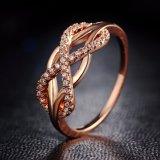 2017 Fashion Design Statement Rose Gold Sliver Color Ring