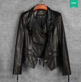 Short Genuine Leather Jacket for Women
