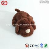 Lying Brown Fluffy Plush Soft Stuffed Dog Cute Toy