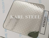 Stainless Steel Silver Color Embossed Kem003 Sheet for Decoration Materials