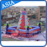 Inflatable Bright Coloured Climbing Rock Wall and Safe Pool