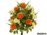 Artificial/Plastic/Silk Flower Rose/Peach Blossom Mixed Bush (2924014)