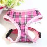 Plaid Pet Harness with Soft Plush Lining, Dog Clothes