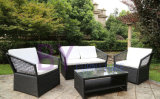Modern 4 Pieces Outdoor Garden PE Rattan Furniture