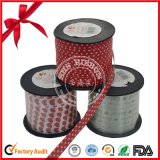 Customized Heart Printed Poly Curling Gift Curly Ribbon