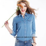 Hot Sell Ladies Denim Indigo Shirt