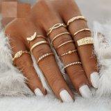 12 Pcset Charm Gold Color MIDI Finger Ring