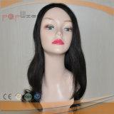 Brazilian Virgin Human Hair Black Lace Front Wig