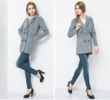 Wholsale Fashion Europe Style Long Women′s Winter Coat