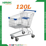 Heavy Duty Retail Store Zinc Plated Hand Push Hand Trolley