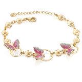 Latest Design Butterfly Gold Plated Crystal Bracelet for Girls