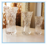 High Quality Clear Square Glass Flower Vase