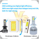 CREE H4 Auto LED Lamp with 9600lm Car Headlight and LED Driving Light