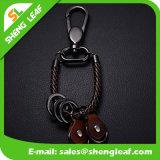 Good Quality Promotion Gift Custom Logo Leather Key Ring (SLF-LK004)