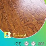 Household 12.3mm HDF AC3 Embossed Elm Waxed Edge Laminate Flooring