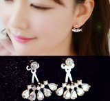 Fashion Cubic Zirconia Silver Diamond Stud Jewelry Dangle Earrings Jewelry