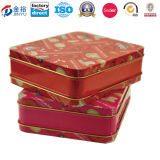 Square Emobossed Metal Tea Tin with Lock for Coffee and Tea Jy-Wd-2015122501