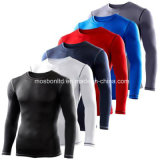 Mens Compression Base Layer Top Long Sleeve Thermal Under Shirt