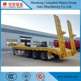 2/3/4 Axle 60t Lowbed Semi Trailer for Excavator Heavy Duty Machinery Transport