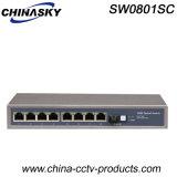 8 Port RJ45 and Sc Fe Ethernet Hub (SW0801SC)