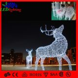 Wholesale 3D Christmas Acrylic Reindeer LED Motif Decoration