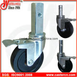 5 Inch Rubber Scaffold Caster with Square Stem