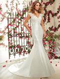 A-Line Taffeta Bridal Dress Cap Sleeve White Wedding Dresses