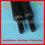 Black Double Wall Shrinking Tube with Glue
